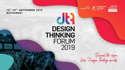 Cinci voci influente la nivel mondial vin la Design Thinking Forum 2019, in septembrie