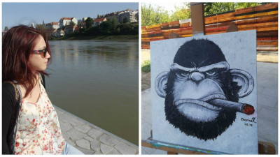 [Obsesii part-time] Cristina Rugina (Kubis): Pictura ma ajuta foarte mult sa ma exprim. De fel, sunt o persoana mai timida