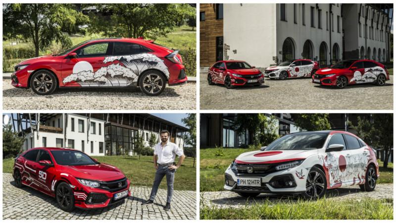 Hainele noi ale Honda Civic: avem designurile castigatoare CIVIC 5D Design Challenge sub forma colantata