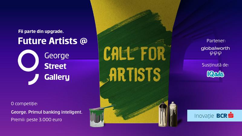 George te vrea expus. Inscrie-ti designul in competitia Future Artists @ George Street Gallery si sterge de tot griul din zona Pipera