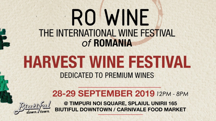 Cum vor arăta vinurile anului 2020? RO-Wine va prezenta in avanpremiera vinurile anului viitor la Harvest Wine Festival
