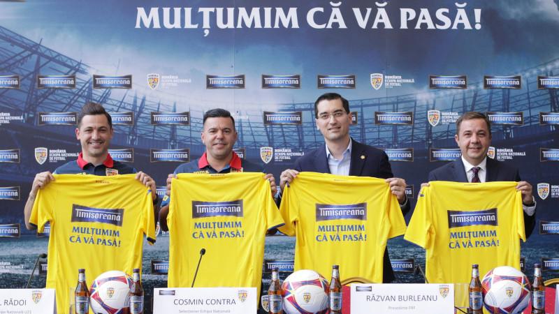 Timișoreana redevine sponsor al Echipei Naționale de Fotbal a României