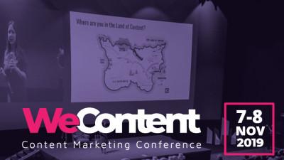 WeContent 2019 - conferința anului în content marketing