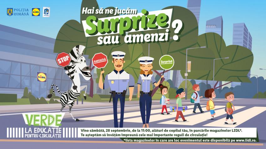 """Lidl și Poliția Română dau """"Verde la educație pentru circulație"""", la cea de-a șaptea ediție a evenimentului național pentru siguranța în trafic a copiilor"""