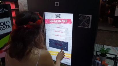 Experiential by Syscom Digital a implementat un booth senzorial interactiv pentru Colorista de la L'Oreal Paris la festivalul SummerWell