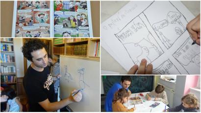 Proful de BD: Îi învăț pe copii să devină creatorii propriilor cărți cu benzi desenate