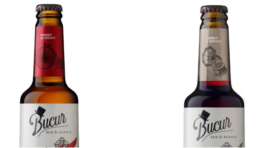 URBB lansează Bucur - bere de bulevard la sticlă, în variantele blondă și brună