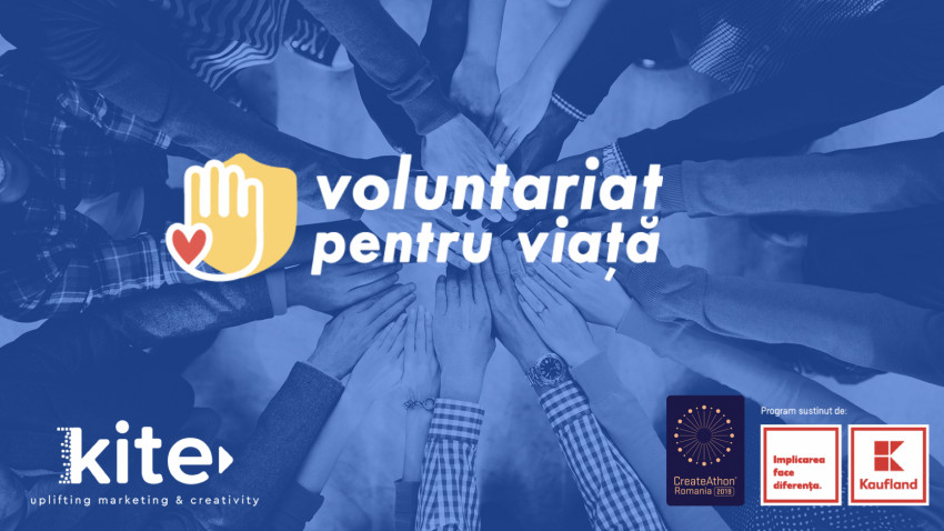 Cât bine poate fi făcut în 24 de ore? Kite și Voluntariat pentru Viață la CreateAthon România 2019