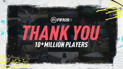 EA SPORTS™ FIFA 20 a atins pragul de 10 milioane de utilizatori