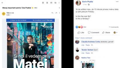 Dacă vorbești cu reclamele, s-ar putea să îți răspundă. Așa cum s-a întâmplat cu Sorin Psatta și Vola.ro