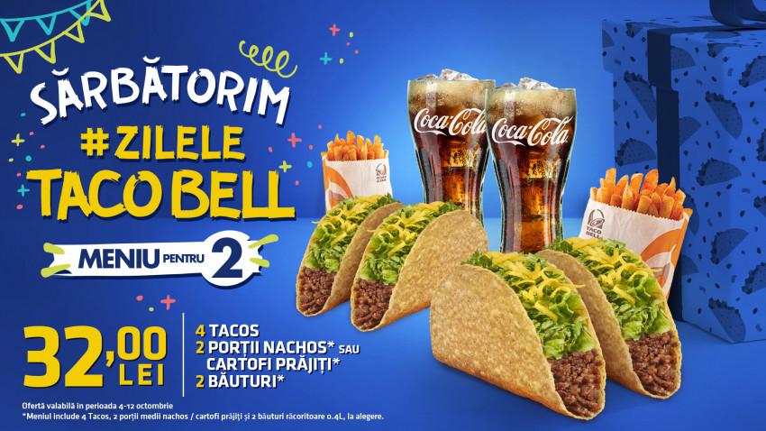 Zilele Taco Bell: brand-ul aniversează doi ani de la lansarea în România și își invită fanii să sărbătorească împreună Taco Day