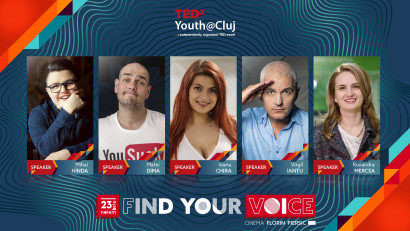 Cine sunt primii speakeri TEDxYouth@Cluj 2019