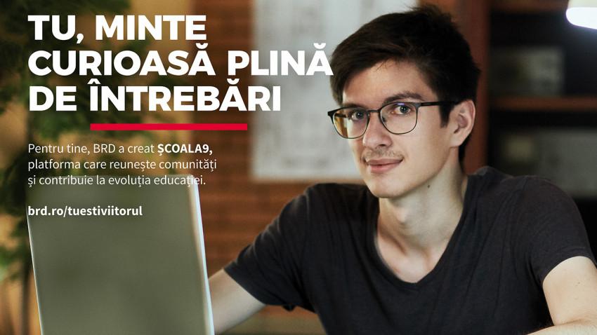 """BRD lansează campania de brand """"Tu ești viitorul"""", aducând în prim-plan platformele Scena9, Școala9 și MINDCRAFT"""