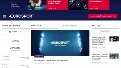 Eurosport anunță lansarea noului website eurosport.ro
