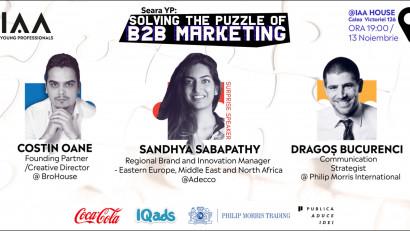 De la Excel la Excelență. Vino la Seara YP dedicată Marketingului în B2B (business-to-business) pentru a afla mai multe despre schimbările ce au avut loc în domeniu și ce surprizene rezervă viitorul