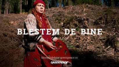 Greenpeace apelează la blestemul unei vrăjitoare pentru a opri distrugerea pădurilor României