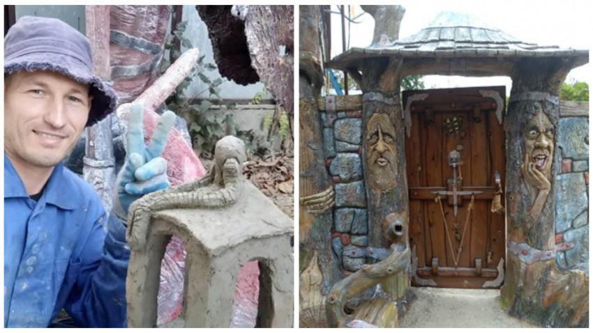 Peste gardul din grădina lui Vladimir Maracineanu se văd dragoni