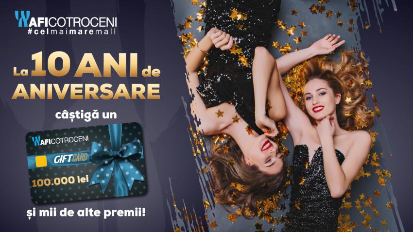 La 10 ani de aniversare, cel mai mare mall din România oferă 100.000 de lei