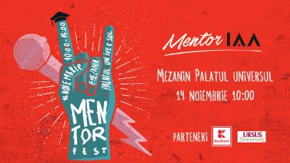 Hai la prima ediție MentorFEST.IAA România te invită la Mezanin pe 14 noiembrie