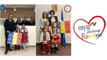 Copiii sărbătoresc și iubesc România