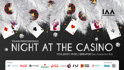 Are you feeling lucky? Atunci vino să închei anul la petrecerea IAA Young Professionals Night at the Casino!