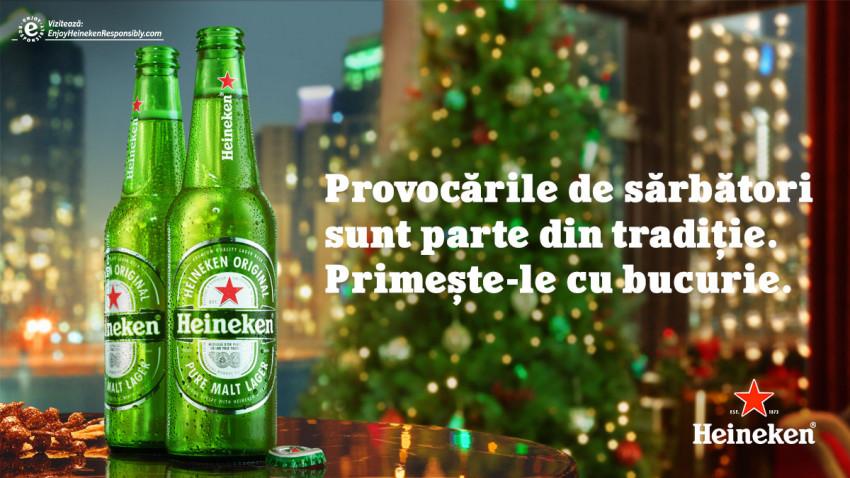 Provocarea Heineken® de sărbători, campania care ne învață să ne bucurăm indiferent de situațiile care apar