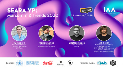 Care sunt trendurile în Marcomm pe 2020 și cum putem rămâne actuali? Află la Seara YP – Marcomm x Trends 2020