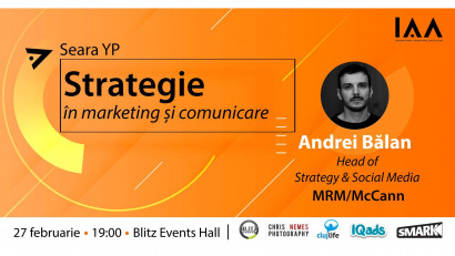 IAA Young Professionals Cluj organizează un eveniment despre strategie  în marketing și comunicare