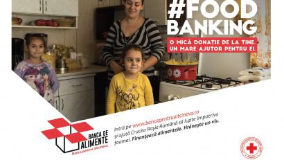 Crucea Roșie Română relansează campania Banca de Alimente și colectează, în prima lună, 14.500 kg de alimente de bază pentru persoanele vulnerabile