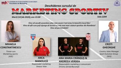 La ASE, marketingul sportiv este pregătit pentru noua generație