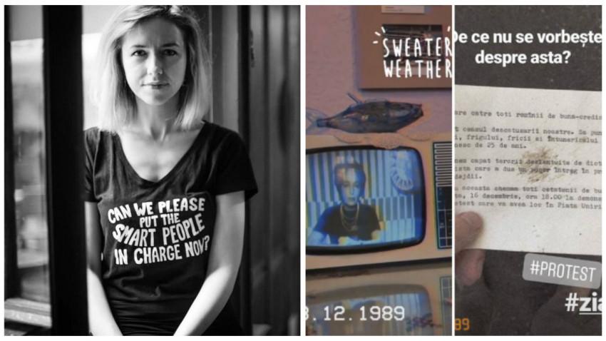 Diana Filimon și Revoluția pe Instagram: Pentru unii a fost greu de distins ce e realitate și ce e ficțiune