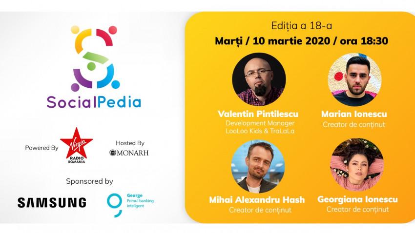 SocialPedia 18:Video Marketing cu Valentin Pintilescu, Marian și Georgiana Ionescu și Mihai Alexandru Hash