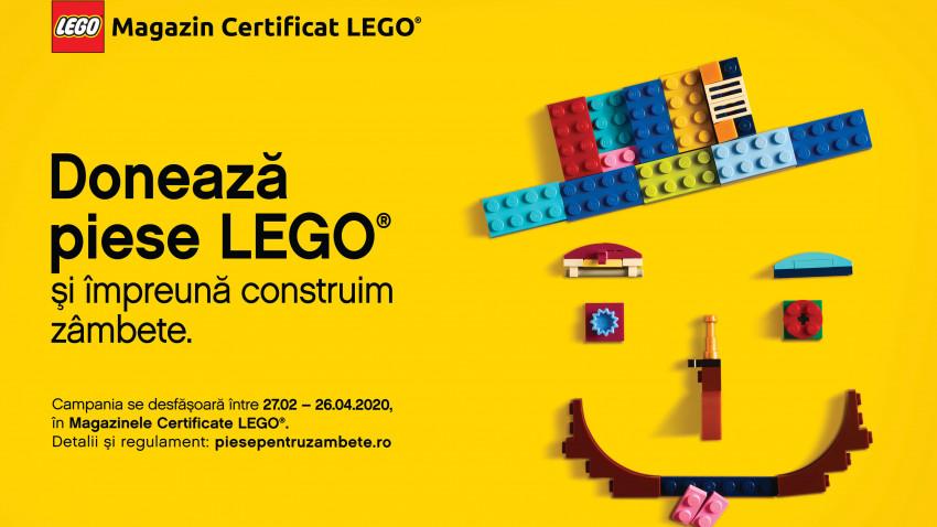 Piese pentru Zâmbete, primul program de donare de piese LEGO® din România, lansat de Magazinele Certificate LEGO® și Fundația United Way România