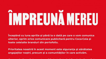 Coca Cola oprește publicitatea pe timp de pandemie