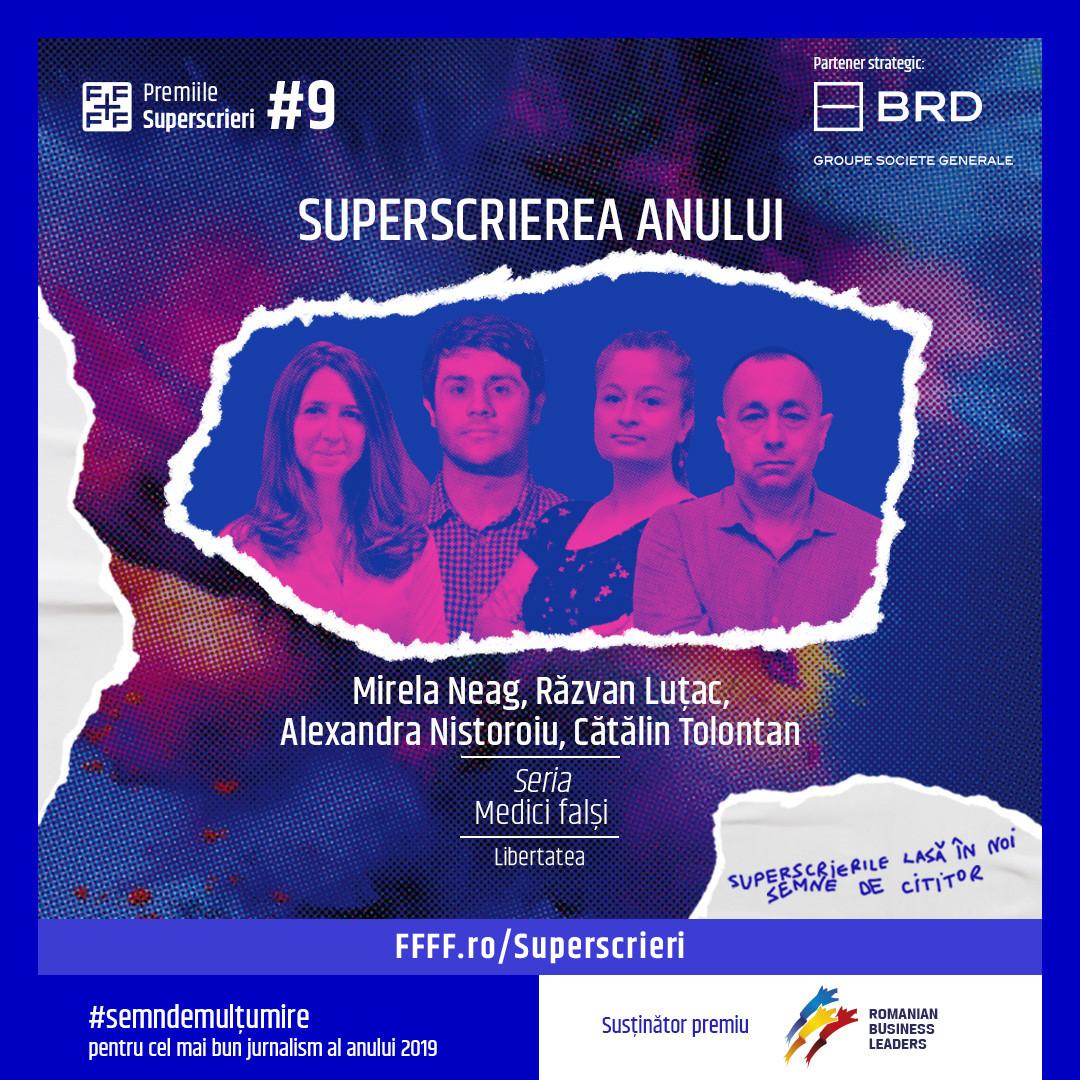 منحت Superscrieri Gala جوائز لأفضل castigatori-superscr