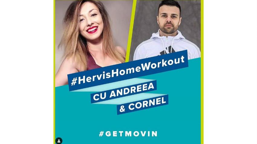 Zilnic pe Instagram Hervis România, timp de 30 de zile, 2 antrenori profesioniști antrenează comunitatea Hervis și nu numai - HervisHomeWorkout începe astăzi