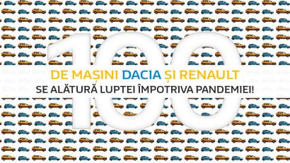 100 de vehicule Dacia și Renault mobilizate pentru lupta împotriva Covid - 19