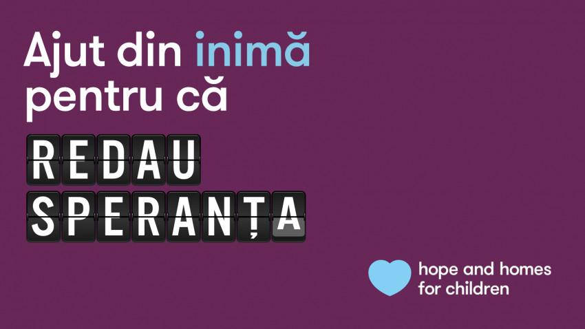 """Hope and Homes for Children lansează campania umanitară """"Ajut din inimă"""", dedicată copiilor și tinerilor vulnerabili afectați de COVID-19"""