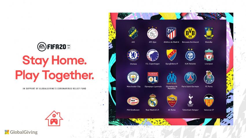 "Electronic Arts și FIFA organizează Cupa ""EA SPORTS™ FIFA 20 Stay and Play"" pentru a reuni comunitatea fotbalistică prin inițiativa ""Stay Home, Play Together"""