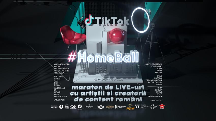 Artiștii și content creatorii din Tik Tok s-au unit pentruTikTok HomeBall – maratonul de live streaming