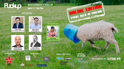 Când soarta ne dă lămâi, noi facem limonadăla ediția digitală a Fuckup Nights București Vol. IV