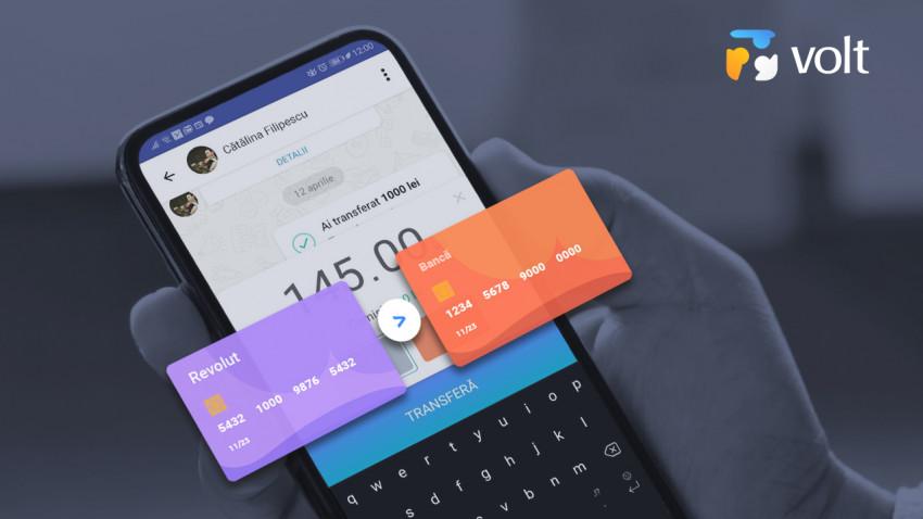Fără cash: Volt, prima aplicație 100% românească de transfer de bani în sistem Peer-2-Peer, permite acum și transferul instant de pe Revolut