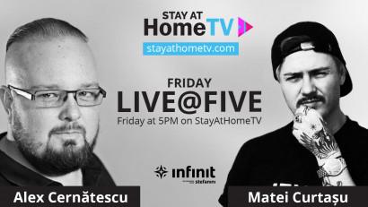 Infinit Agency continuă seria FridayLive@Five cu May 1st Edition, vinerea aceasta la ora 17:00