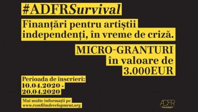 Asociația Pentru Dezvoltarea Filmului Românesc lansează micro-granturile #ADFRSurvival pentru artiștii independenți din industria cinematografică