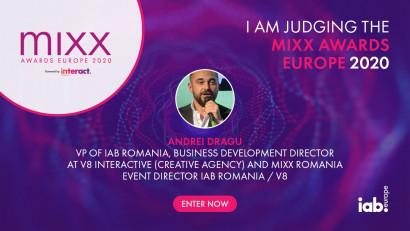 Andrei Dragu face parte din Juriul IAB MIXX Awards Europe 2020, o premieră pentru România