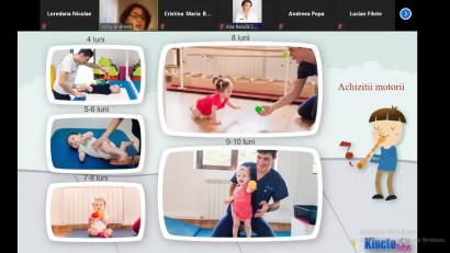 Peste 20.000 de părinţi şi copii au făcut sport acasă cu kinetoterapeuţii Asociaţiei Kineto Bebe