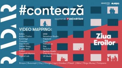 RADAR lansează ediția națională aproiectului de video-mapping #CONTEAZĂ