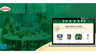 Primul e-shop de lactate din România lansat de Napolact și V8 Interactive