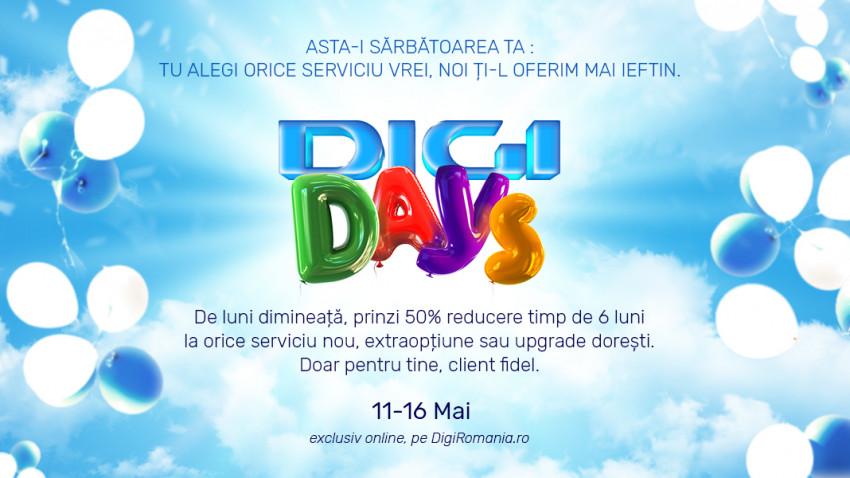 Digi sărbătorește clienții loiali și le aduce oferte speciale, de Digi Days
