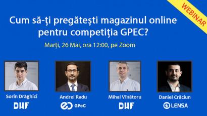 Webinar DWF & GPeC - Cum să pregătești magazinul tău online pentru competiția GPeC?